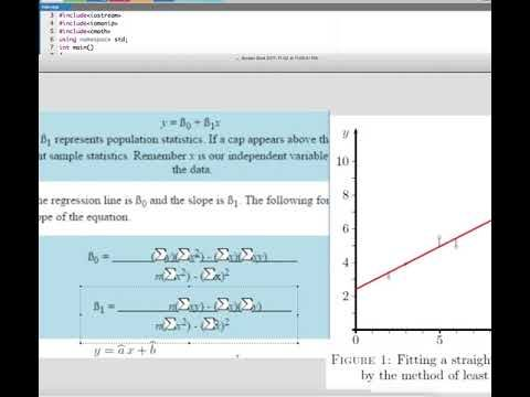Linear Fit using C++ Program Tutorial   Computer Aided Analysis