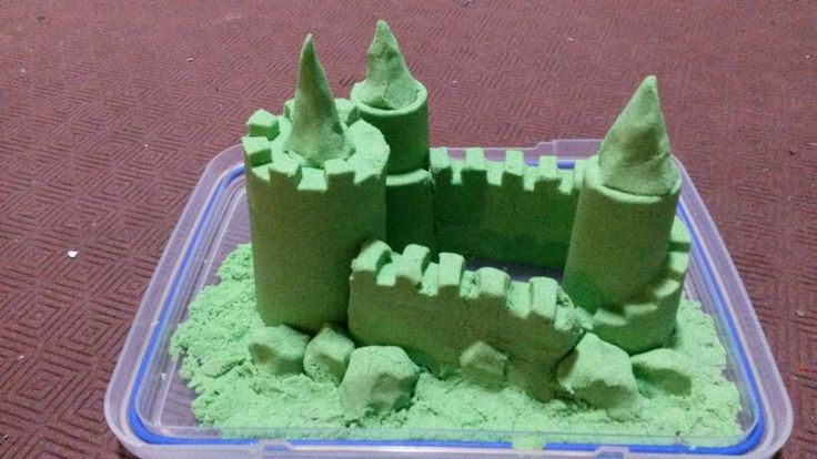 Green with envy, kinetic sand castle in the moorlands