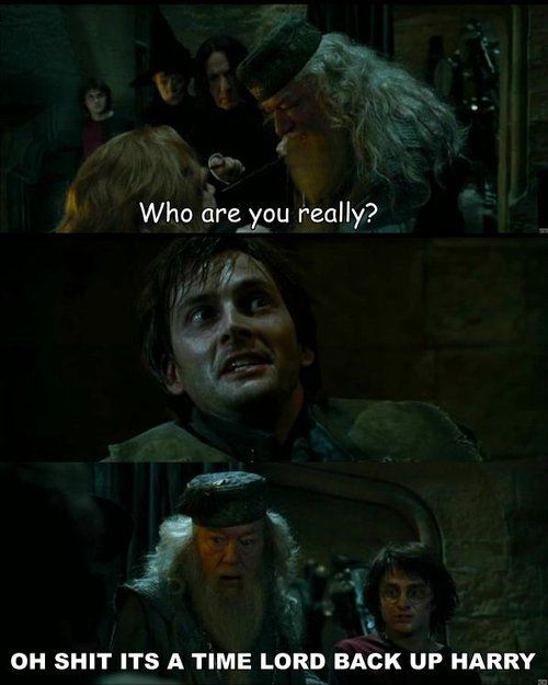Barty Crouch Jr. = David Tennant.  TOTALLY FANGIRLED.   Harry Potter + Doctor Who.