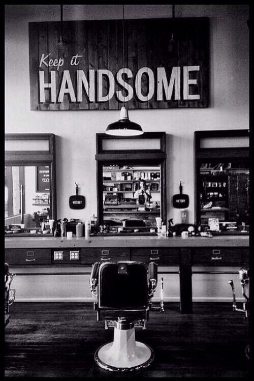 Vintage barber shop via. birds and baking