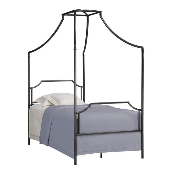 bailey twin size metal canopy bed