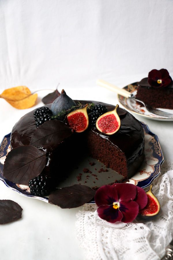 Autumn Chocolate Cake (vegan & glutenfrei)