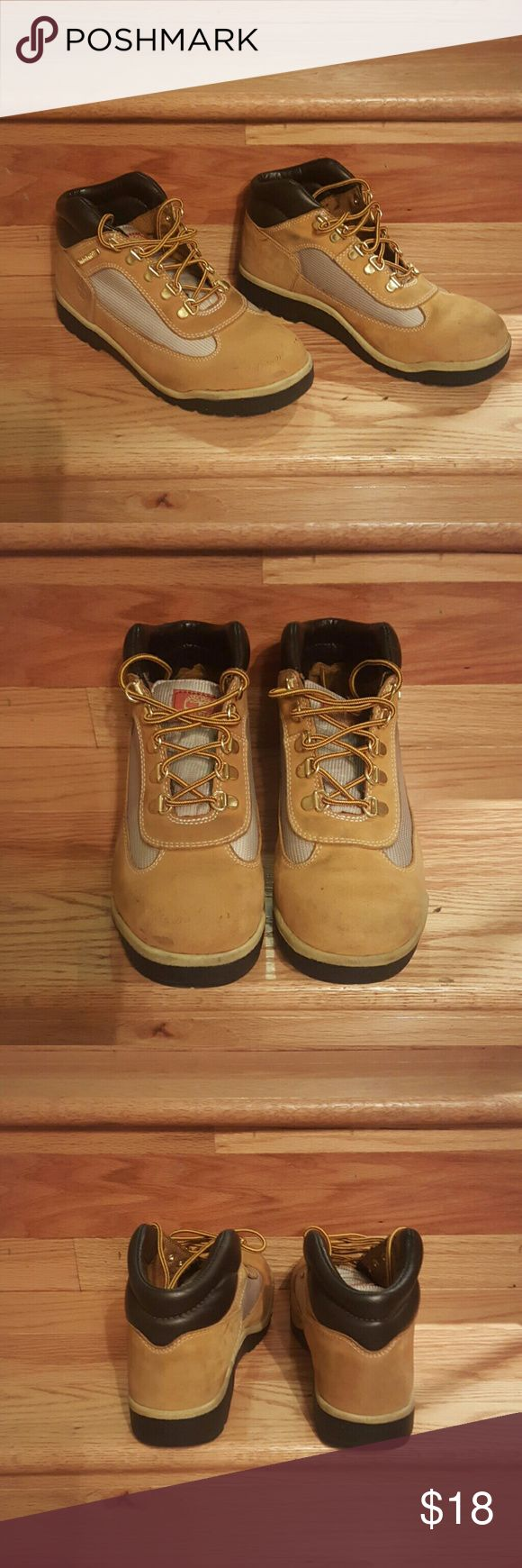 Timberland Boots Size 7.5 ankle style  Wheat Timberland boots.  Great condition. Timberland Shoes Ankle Boots & Booties