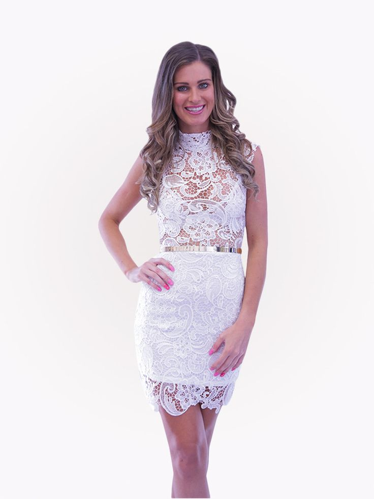 Odessa lace dress - white – SODA