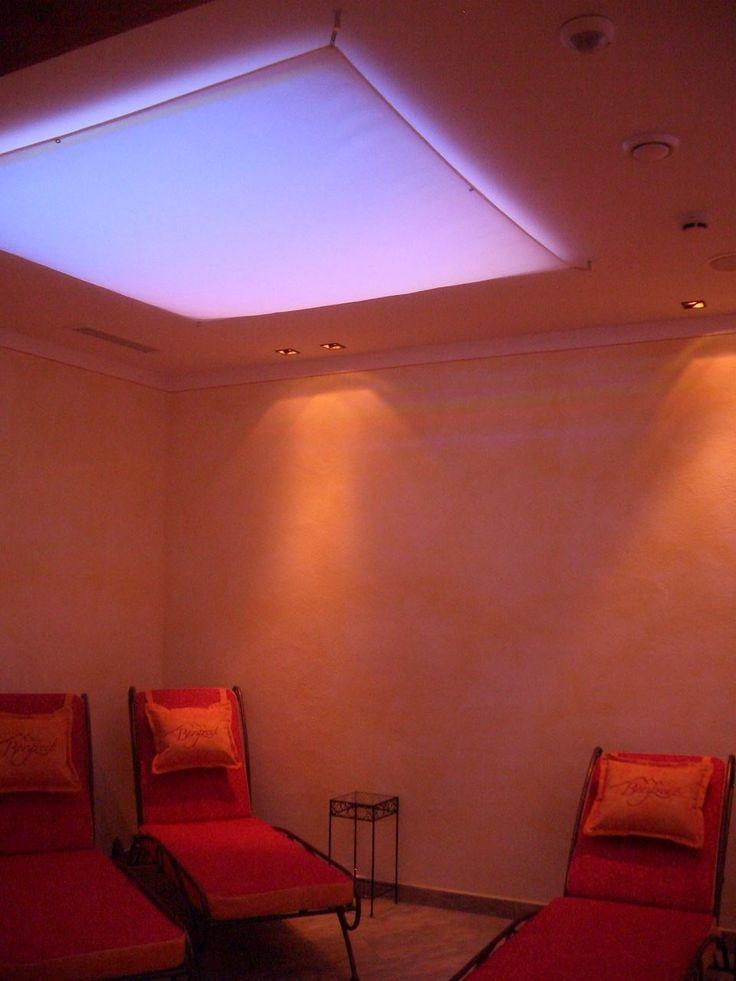 Eckige LED RGB WW Lichtsegel Segelleuchte Frbige Segeltuch Deckenlampe Zum Wellnessen Kaufen Sie Sicher Per Rechnung Im Lampen Leuchten Online Shop