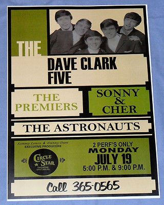 The-Dave-Clark-Five-Sonny-Cher-Concert-Poster-Circle-Star-San-Carlos-1965
