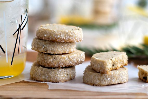 Rosemary-Lemon Shortbread Cookies   Emily (of Jelly Toast) for My Baking Addiction