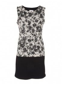Floral Lace Shift Dress Milk