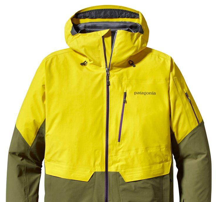 Snowleader présente la veste de ski homme Patagonia Powslayer  http://www.snowleader.com/m-s-powslayer-jkt-electric-yellow.html