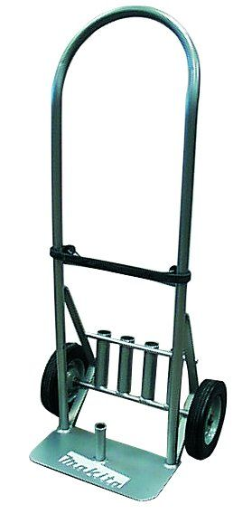 Makita 122010-A Demolition Hammer Transport Cart. Provides for easy transporting of Makita Demolition Hammers. Convenient on-board tubes for accessory storage. Fits Model #'s HM1303B, HM1304, HM1500B and HM1800 Demolition Hammers.