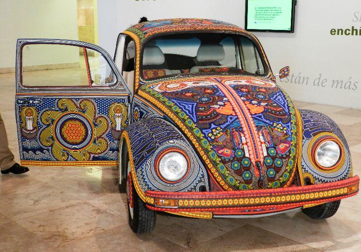 Vocho Huichol-Art gefunden bei blog.nuevoleon.travel