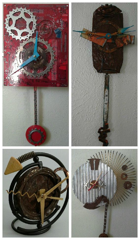 1000 images about clocks on pinterest household items for Anything made by waste material