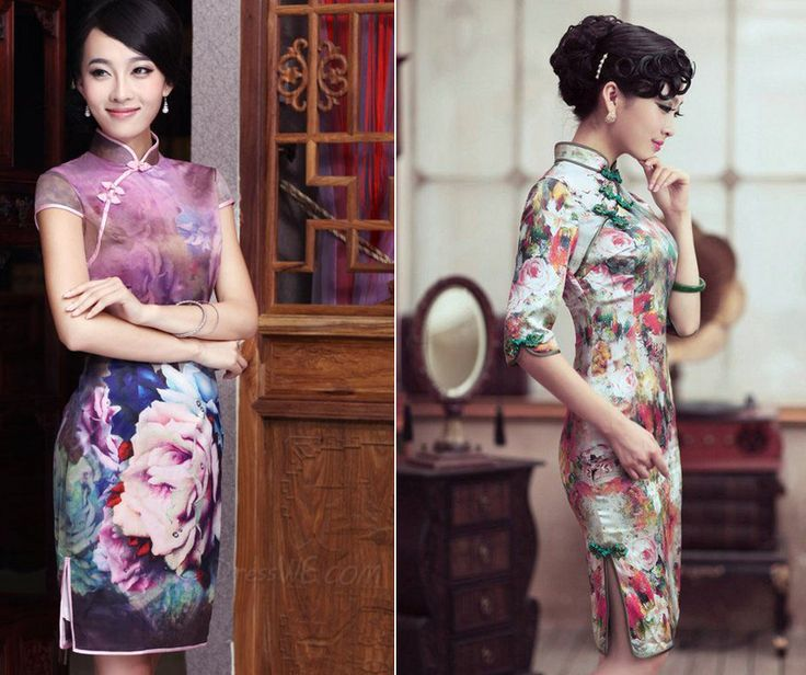 I always considered silk oriental dresses to be beautiful and very feminine. How about you? #outfit #fashion #beauty #feninine