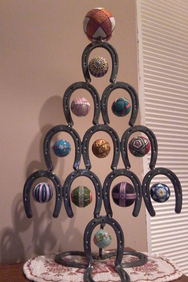 I call this piece: East meets West.  My uncle made me the horse shoe tree. I made 3 inch tamari to fit each shoe.