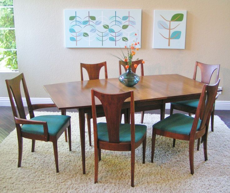 Broyhill Premier Brasilia Sculptra Dining Table Chairs Sleekandsimplelines