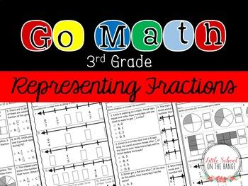 "Go Math Third Grade Supplement Chapter Two: This unit serves as a supplement for the Go Math Third Grade Chapter Two ""Representing Fractions."" Each lesson contains two to three pages of supplemental material. These pages can be used for extra practice or"