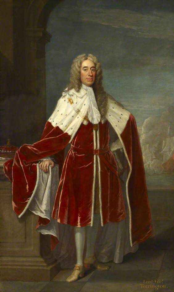 Admiral of the Fleet George Byng (1663–1733), 1st Viscount Torrington, 1734, by Jeremiah Davison  National Maritime Museum