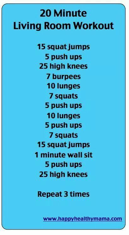 20 minute workout- Flat Belly Workout- What more workouts? Check out our Clean…