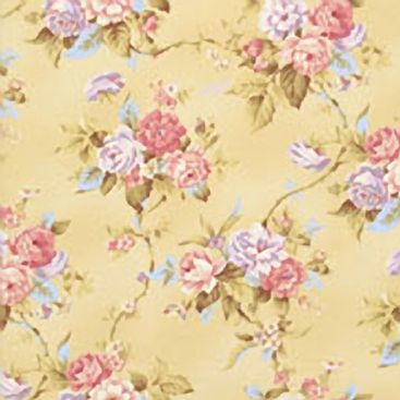 RJR Fabrics – World of Romance by Robyn Pandolph – Rose Vines in Light Gold - 2120-002