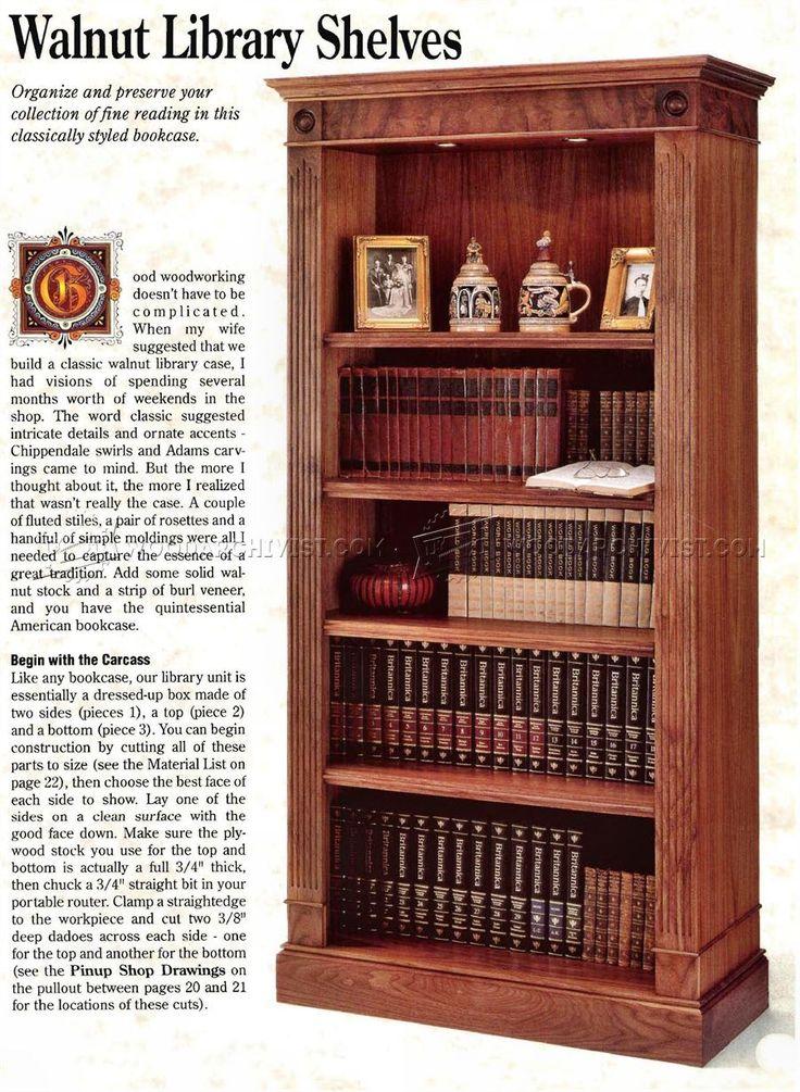 Bookcase Plans - Furniture Plans