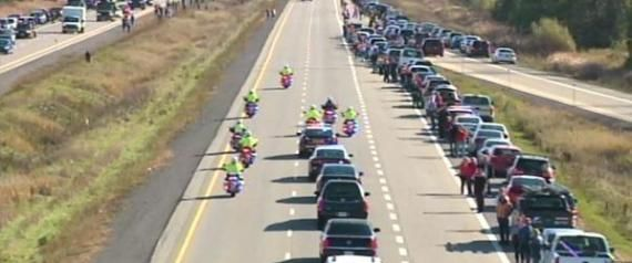In Pictures: Canada Honours A Fallen Son On The Highway Of Heroes