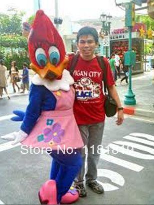 >> Click to Buy << Woodpecker mascot costume duck girl custom fancy costume anime cosplay kits mascotte cartoon theme fancy dress #Affiliate