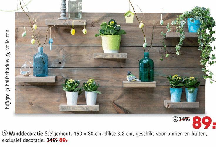 wandplanken wanddecoratie steigerhout 150 80 cm dikte 3 2 binnen buiten decoratie  folder aanbieding bij Intratuin