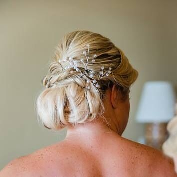 Up-do hairstyle for our Cabo bride.  Cabo wedding beauty services by Alma Vallejo Cabo Hair & Makeup Professionals. #wedding #makeup #makeupartist #beauty #love #bridetobe #wedspiration #destinationwedding #cabo #cabosanlucas #mexicowedding #loscaboswedding #almavallejo #cabomakeup #weddings #bride #bridal #bridalmakeup #bridalhair #hairstyle #airbrush #bridesmaids #bridalparty #novia #flowers