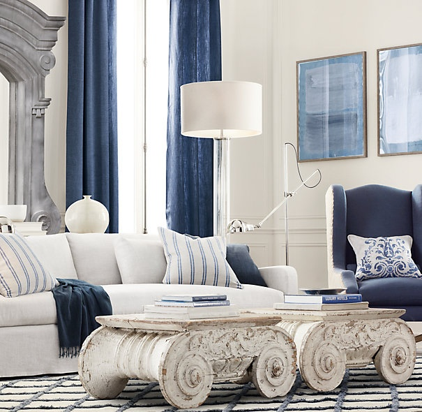 White Living Spaces: 1000+ Ideas About Blue And White Curtains On Pinterest