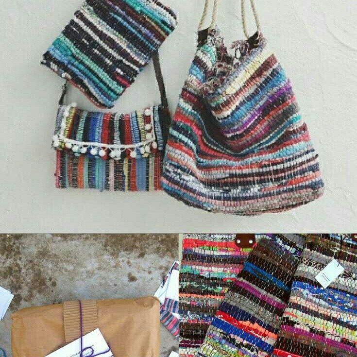 Pom Pom Clutch Bag. Kleine Geldbörse aus Boho Chic-Stoff. Mehrfarbige Upcycled-Tasche. Böhmische Hippie Clutch. Einzigartiges Geschenk für Frauen. Geschenk für Nichte