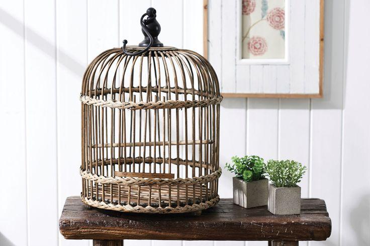 RATTAN BIRDCAGE  - NATURAL