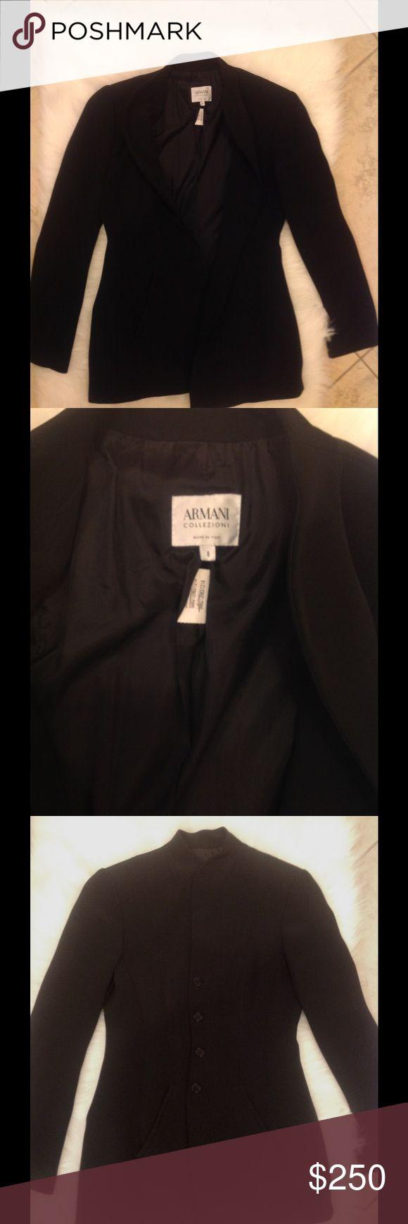 Armani Collezioni Black Suit Jacket Armani Collezioni Black Suit Jacket size 6, fully lined. Armani Collezioni Jackets & Coats Blazers