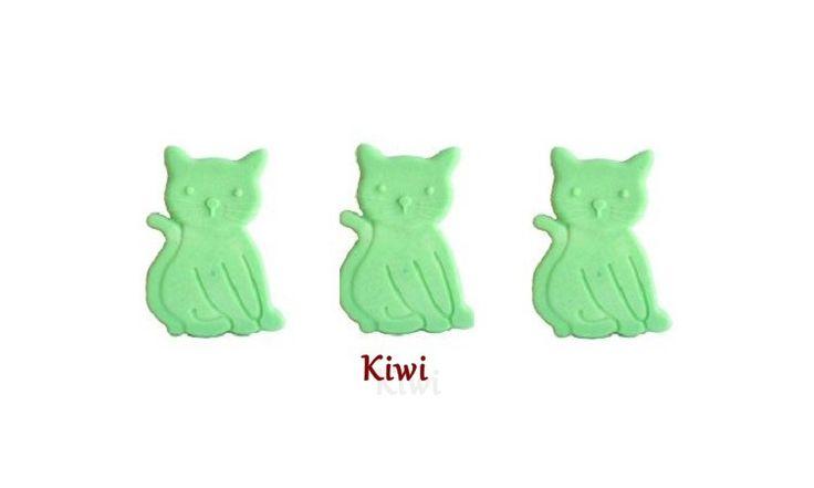 3 Fondants Brûle Parfum Kiwi Petits Chats Animaux Cire Végétale naturelle Parfum d' Ambiance Fondant à brûler : Luminaires par fondants-de-cire-parfumes-fleur-artifice