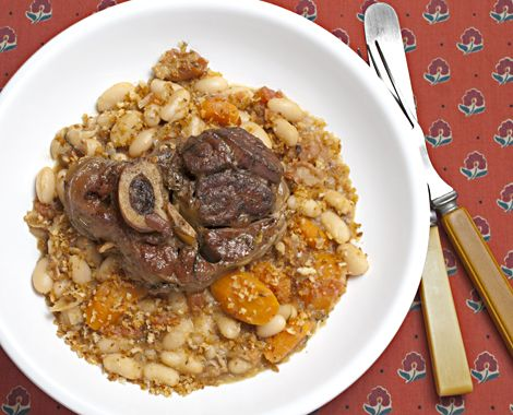 Veal Shank Recipe. -- Not Osso Bucco.  A playful take on Cassoulet