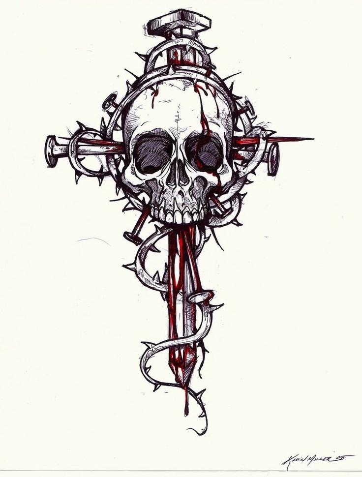 провели картинки крест черепа тут были