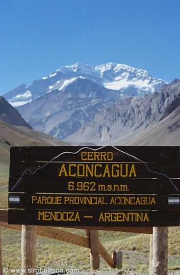Mt. Aconcagua (6,959 m), Andes Range. The highest mountain in the Americas.