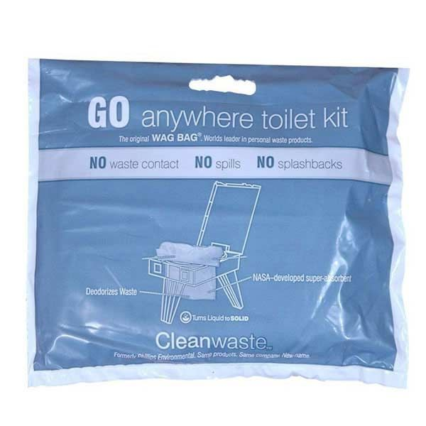Ezygonow GO anywhere Toilet Kit | Pre-loaded with Poo Powder waste treatment powder to turn liquid to solid and once activated by a liquid, to encapsulate solid waste. Can be used by itself, with portable toilets or buckets. #campingtoilet #portabletoilet #camping #outdoors #bushwalking #trekking #toiletbag #compact