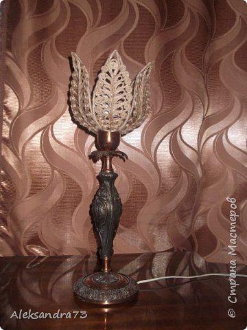 Интерьер Поделки электрические Моделирование конструирование Настольные лампы и люстра Шпагат фото 1
