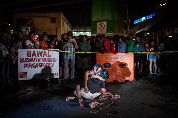 Rodrigo Duterte's 'War on Drugs' in one picture. Manila, Philippines.