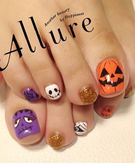 12 halloween toe nail art designs ideas 2016