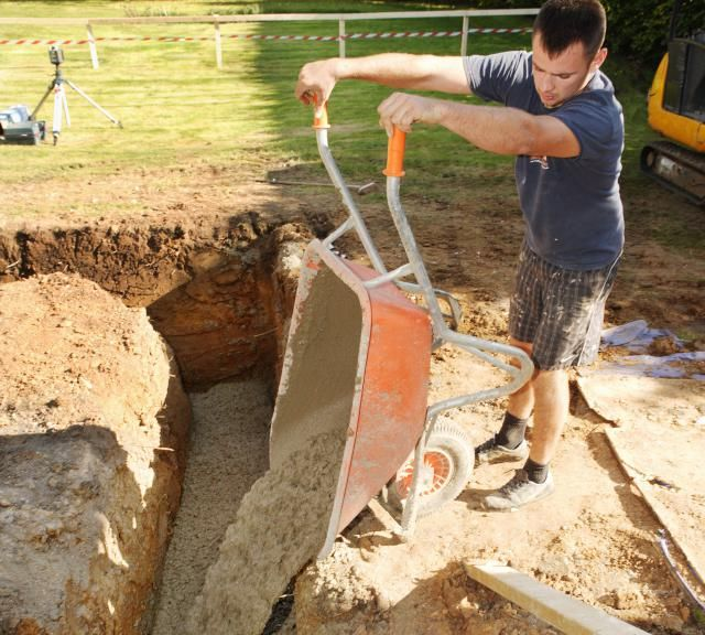 Building your own house is quite a big deal.  This guide outlines the basic procedure for being your own general contractor.: Pouring Concrete House Footings and Foundation