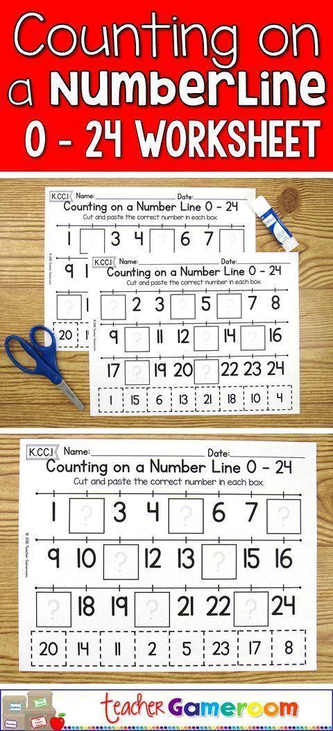 Practice counting to 24 in this no prep cut and paste activity. Great for kindergarten centers. CCSS aligned. K.CC.1 #mathforkindergarten #adultmathactivities
