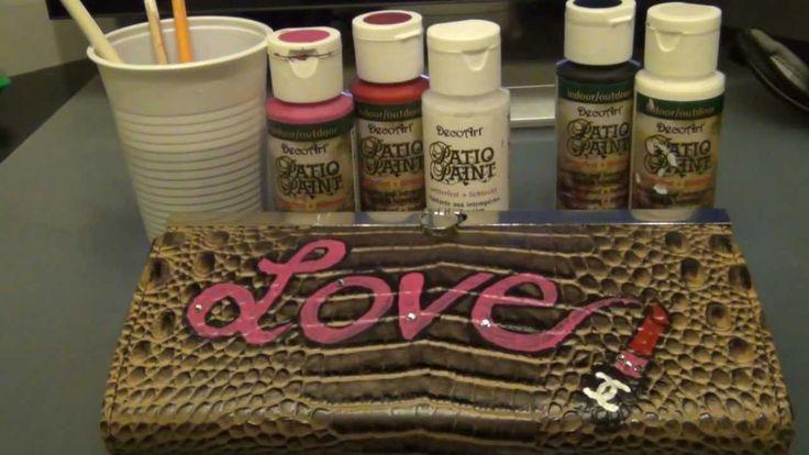Personalizzare trousse, borse e portafogli (Dipinti a mano) tutorial