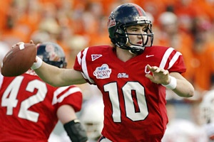 Eli Manning broke or tied 45 school records during his career at Ole Miss. (Tim Sharp/Associated Press)