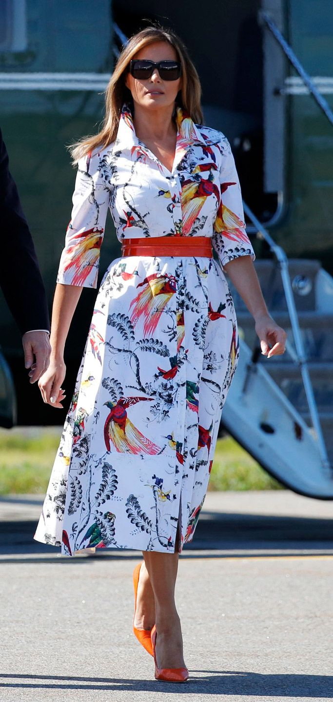 Melania Trump Summons The Animal Kingdom With Her Latest Look Trump Fashion Melania Trump Dress Milania Trump Style