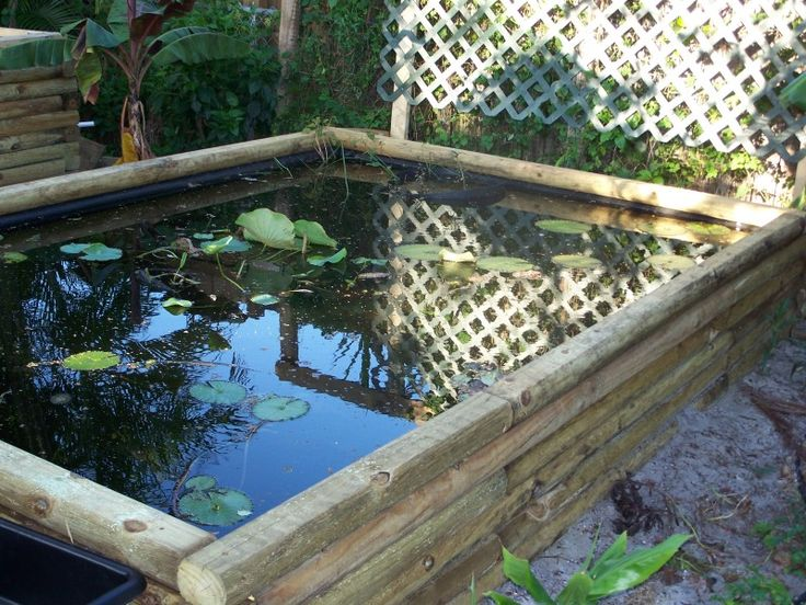 225 best images about water features on pinterest raised for Building a goldfish pond