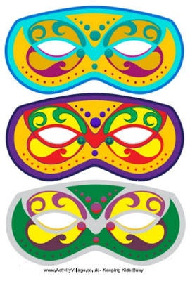 151 best mardi gras images on pinterest bows coloring books and link to 3 different free printable mardi gras masks pronofoot35fo Images