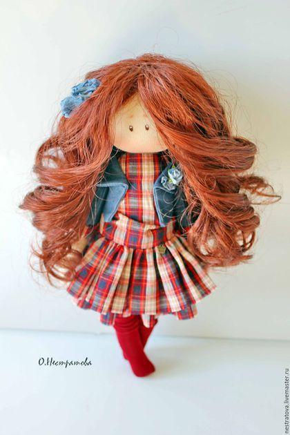 Fabric doll / Коллекционные куклы ручной работы. Заказать Дарья. Интерьерная кукла. Олеся. Ярмарка Мастеров. Кукла ручной работы, интерьерная кукла