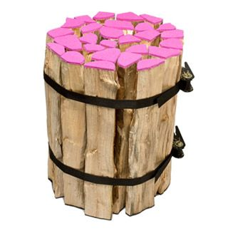 Funky log stool with pink detail by Ikarus Crew - Upcyclista