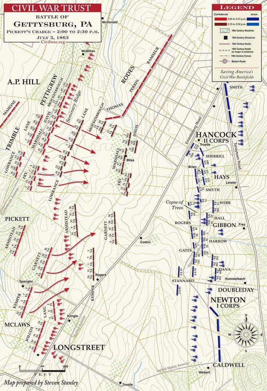 Battlefield Maps On Pinterest Timeline Tool American History - Gettysburg battle us map